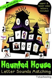 Haunted House Letter Sounds Matching