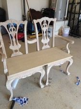 How to turn two Chippendale chairs into a bench – furniture makeover. – …   – Heimwerken