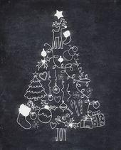 Kostenlose Weihnachtsbaum Kreide druckbare & Amazon Geschenkkarte Werbegeschenk – Weihnachten