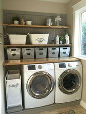 Más de 43 ideas funcionales simples para la lavandería Lavar las prendas realmente puede parecer …