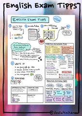 Exam Tipps Englisch Oberstufe – Sketchnotes – Unterrichtsmaterial in den Fächern Englisch & Fachübergreifendes