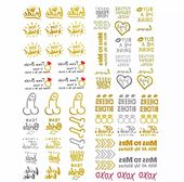Bachelorette Party Tattoos – Team Bride Metallic Waterproof temporary Tattoos – OilPatchBurlesque – – Products