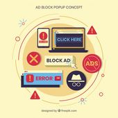 Download Modern Ad Block Concept With Flat Design for free