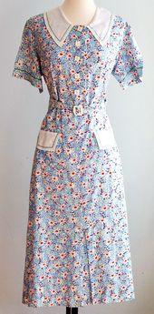 30s pinafore dress