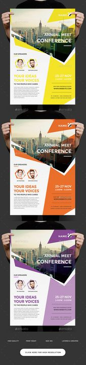 Event Summit Conference Flyer — Photoshop PSD #talk #participant • Available...