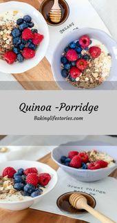 Recipe for quinoa porridge with yoghurt and fresh berries | Discovered on: Baki …   – RECIPES // BakingLifeStories.com