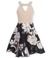 81cab8b9edc Sweet Kids Little Girls 2-6 Brocade Bow-Back Fit-And-Flare Dress ...