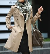 Womens Double Breasted Classic Trench Coat