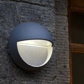 Lutec Led outdoor wall light Radius (3 lights, 3 x 1 W, neutral white, Ip54, silver) Luteclutec