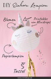 DIY Einhorn Laterne als süße Dekoration   – DIY Ideen und DIY Projekte