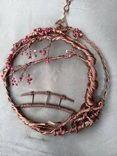Kristalle Suncatcher, Sakura, 3D-Baum des Lebens, Baumskulptur, japanische Kunst, Kupfer …   – Kirsche