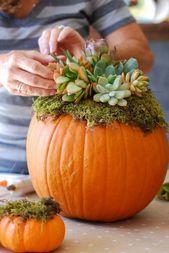 Kürbis Halloween oder Herbst Deko: 10 coole Ideen für DIY-Projekt-Enthusiasten – Haus Dekoration ideen 2019