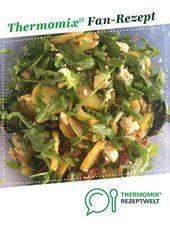 Ensalada mediterránea de papa con rúcula, queso feta y tomates secos (sin mayonesa)   – Thermomix