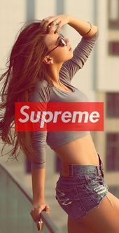 supreme iphone wallpaper hd girl sexy long hair