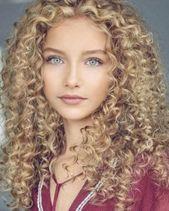 36 Besten Frauen Frisur Blonde Locken