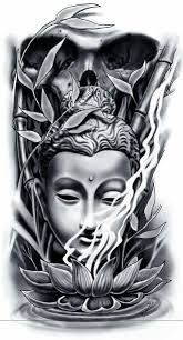 Image Result For Half Sleeve Tattoos For Men Black And White Designs Buddha Tattoo Design Buddha Tattoo Buddha Tattoo Sleeve