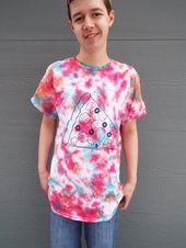 Benutzerdefinierte Pizza Shirt, Custom Tie Dye Shirt für den Pizza-Liebhaber, Pizza T-Shirt, College Geschenk, Abschluss Geschenk, Vatertag, Absolvent Geschenk, Essen