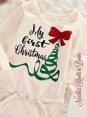 Baby's First Christmas Onesie, My First Christmas Onesie / Bodysuit, Baby Girls First Christmas Top – 'tis the season!