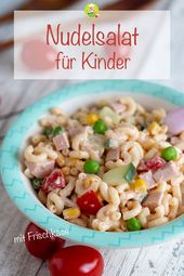 Children pasta salad with cream cheese, what children like – My room