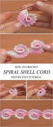 Spiral Shell Cord Häkelanleitung