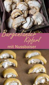 Burgenländer Kipferl – Knusperplätzchen mit Nussbaiserfüllung   – 1 Winterküchen – Gruppenbord