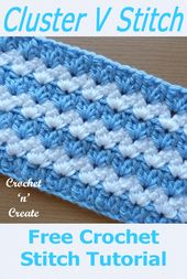 Baby Blanket Chunky and warm cluster v-stitch, a free crochet tutorial from #crochetncreate u...