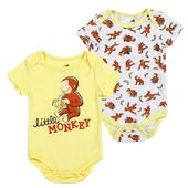 Curious George Little Monkey Baby Boys Onesie Set – baby boy