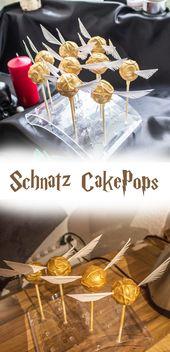 Mein Rezept für Schnatz Cake-Pops. Der RENNER für jede Harry Potter Party und … – Harry Potter Party