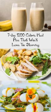 7-day 1200 Calorie Meal Plan That Won't Leave You Starving – Diet