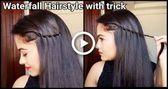 Einfacher Trick zum Wasserfall Frisur / / Frisuren für mittlere bis lange Haare / / indische Frisuren für die Schule # Haar # Frisuren #Diyhairstyle...