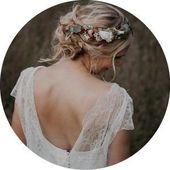 Knopf-museandmirror – Hochzeit – #Knopfmuseandmirror #wedding   – Blumenkranz Ha…
