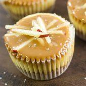 Gesalzener Karamell Apfel Mini Käsekuchen   – Food