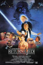 Return of The Jedi 1983 Classic Film Poster Star Wars Film Poster Darth Vader Luke Skywalker Princess Leia four Sizes