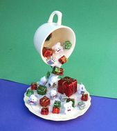 Christmas Decor Floating Cup Centerpiece Topiary -…