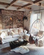 27 prächtige rustikale und elegante Wohnzimmer die Sie sehen sollten #Wohnzimme… – Haus Dekoration