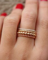 Textured 14k Wedding Band Dimple Hammered Solid Gold Stacking Ring Choose Yellow Gold Pink Gold or White Gold Hand Forged Custom Metalwork