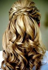 Festive hairstyle half-open #brow hairstyles half-open #long hair #frisurenlange # … – my blog