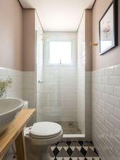 Einfache und kleine Badezimmer
