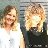 Kurze Frisuren zu Gunsten von Damen mit lockigem Matte | Lockig mit haaren | Wie man lockig
