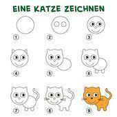 Zeichnen Einer Katze Zeichnen Lernen Fur Kinder One Fur Katze Kinder Einer Fur Katz Katze Zeichnen Zeichnen Lernen Fur Kinder Zeichnen Lernen