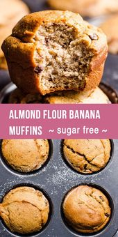 af82871c6f828fb505515ad67d6a9f9c Almond Flour Banana Muffins that are low carb and gluten free. How to make almon...