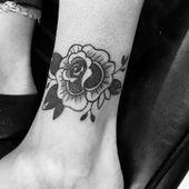 Oldskool Rose Tattoo .. #tattooed #tattooidea #tattooist #tattooinsta
