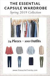 The Important Capsule Wardrobe: Spring 2019 Assortment