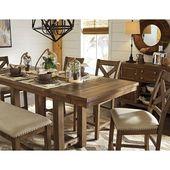 Fand es bei Wayfair – Hillary Rectangular Counter Height Extendable Dining Table   – dining room