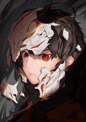 Raven Branwen Rwby Devushka Maska Bryunetka Anime Oskolki S