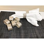 8 Silver Plated Napkin Rings, Classic Cloth Napkin Holders, Formal Classic Table Setting