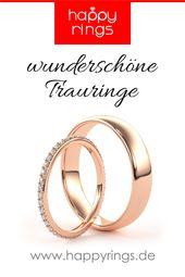 Wedding rings pink gold happyrings