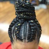 Trendy 60+ Jumbo Cornrows für schwarze Frauen   Neue natürliche Frisuren: Wunderschöne Frisuren mit hohem Pferdeschwanz für schwarze Frauen #Trend…