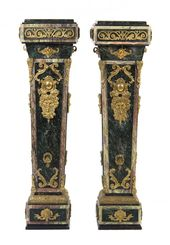 A Pair of Louis XVI Style Gilt Bronze Mounted Marble