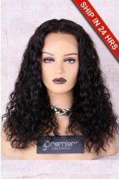 Kiara Shoulder Length Curly Hair 4 5 Lace Front Wig 16 Inches Natural Color In 2020 Shoulder Length Curly Hair Lace Front Wigs Human Hair Lace Wigs